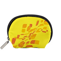 Yellow abstraction Accessory Pouches (Small)