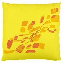 Yellow abstraction Large Flano Cushion Case (Two Sides)