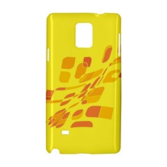 Yellow abstraction Samsung Galaxy Note 4 Hardshell Case