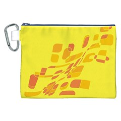 Yellow abstraction Canvas Cosmetic Bag (XXL)