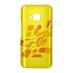 Yellow abstraction HTC One M9 Hardshell Case