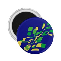 Blue abstraction 2.25  Magnets