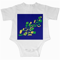 Blue abstraction Infant Creepers