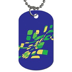 Blue abstraction Dog Tag (Two Sides)