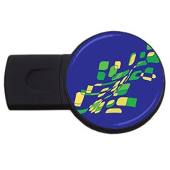 Blue abstraction USB Flash Drive Round (1 GB)