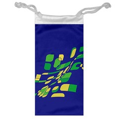 Blue abstraction Jewelry Bags