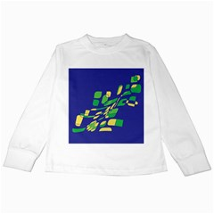 Blue abstraction Kids Long Sleeve T-Shirts