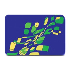Blue abstraction Plate Mats