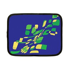 Blue abstraction Netbook Case (Small)