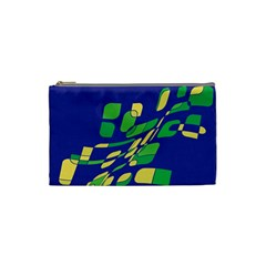 Blue abstraction Cosmetic Bag (Small)