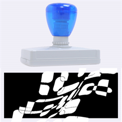Blue abstraction Rubber Address Stamps (XL)