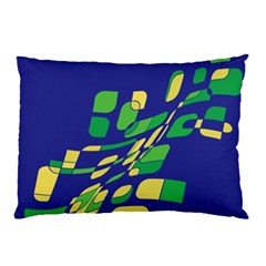 Blue abstraction Pillow Case (Two Sides)