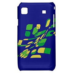 Blue abstraction Samsung Galaxy S i9000 Hardshell Case