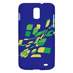 Blue abstraction Samsung Galaxy S II Skyrocket Hardshell Case