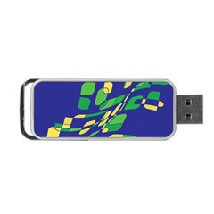 Blue abstraction Portable USB Flash (Two Sides)