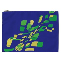 Blue abstraction Cosmetic Bag (XXL)