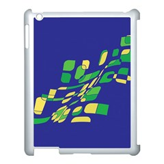 Blue abstraction Apple iPad 3/4 Case (White)