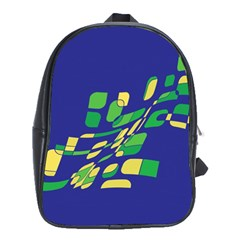 Blue abstraction School Bags (XL)