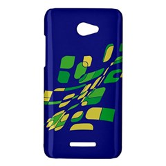 Blue abstraction HTC Butterfly X920E Hardshell Case