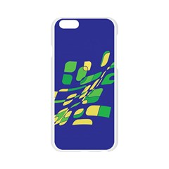 Blue abstraction Apple Seamless iPhone 6/6S Case (Transparent)