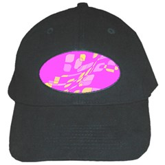 Pink abstraction Black Cap