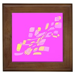Pink abstraction Framed Tiles