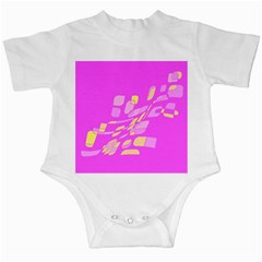 Pink abstraction Infant Creepers