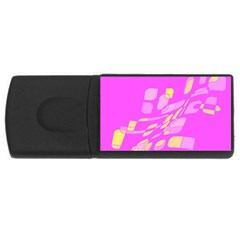 Pink abstraction USB Flash Drive Rectangular (1 GB)