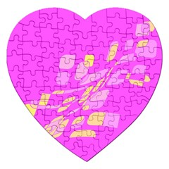 Pink abstraction Jigsaw Puzzle (Heart)