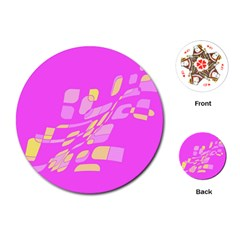 Pink abstraction Playing Cards (Round)