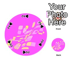 Pink abstraction Playing Cards 54 (Round)