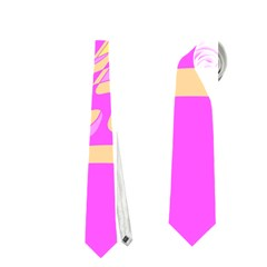 Pink abstraction Neckties (One Side)