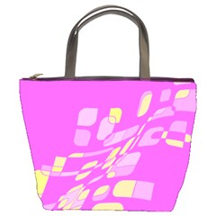 Pink abstraction Bucket Bags
