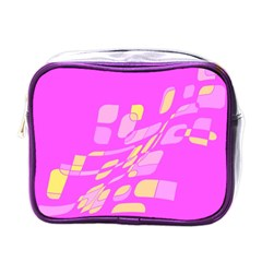 Pink abstraction Mini Toiletries Bags