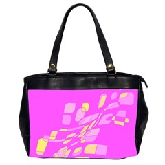 Pink abstraction Office Handbags (2 Sides)