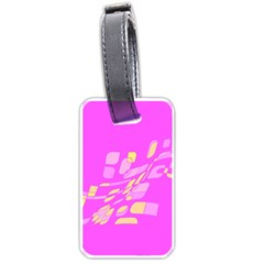 Pink abstraction Luggage Tags (Two Sides)