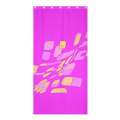 Pink abstraction Shower Curtain 36  x 72  (Stall)