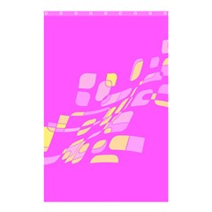 Pink abstraction Shower Curtain 48  x 72  (Small)