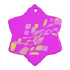 Pink abstraction Ornament (Snowflake)
