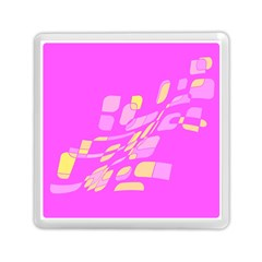 Pink abstraction Memory Card Reader (Square)
