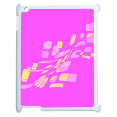 Pink abstraction Apple iPad 2 Case (White)