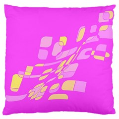 Pink abstraction Large Cushion Case (Two Sides)