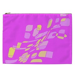 Pink abstraction Cosmetic Bag (XXL)