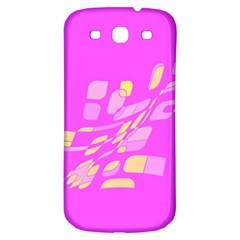 Pink abstraction Samsung Galaxy S3 S III Classic Hardshell Back Case