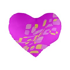 Pink abstraction Standard 16  Premium Heart Shape Cushions
