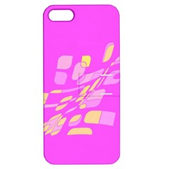 Pink abstraction Apple iPhone 5 Hardshell Case with Stand