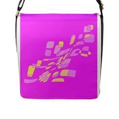 Pink abstraction Flap Messenger Bag (L)