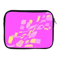 Pink abstraction Apple iPad 2/3/4 Zipper Cases