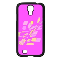 Pink abstraction Samsung Galaxy S4 I9500/ I9505 Case (Black)