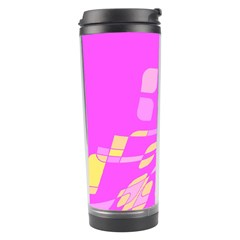 Pink abstraction Travel Tumbler